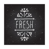 Fresh - product label on chalkboard Royalty Free Stock Image