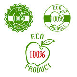 Fresh product labels with fruit Royalty Free Stock Image