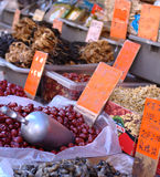 Fresh products displayed in Chinatown Royalty Free Stock Image