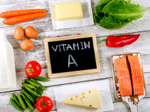 Fresh Products rich in vitamin A. Stock Photo