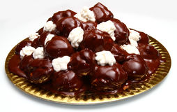 Fresh profiteroles Stock Photography