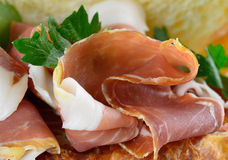 Fresh prosciutto Royalty Free Stock Photography