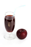 Fresh Prune juice Stock Photography