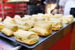 Fresh puff pastry Stock Photos