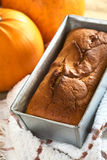 Fresh Pumpkin Bread Stock Images