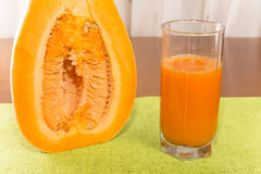 Fresh pumpkin juice Royalty Free Stock Photography