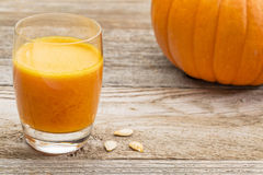 Fresh pumpkin juice Royalty Free Stock Images