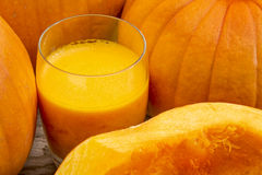 Fresh pumpkin juice Royalty Free Stock Photo