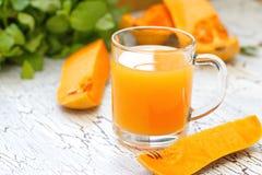 Fresh pumpkin juice Royalty Free Stock Images