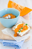 Fresh pumpkin marmalade Royalty Free Stock Photos