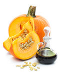 Fresh pumpkin oil Royalty Free Stock Image