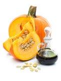 Fresh pumpkin oil Royalty Free Stock Image