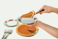 Fresh Pumpkin Pie Stock Photos