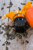 Fresh Pumpkin Seed Oil Royalty Free Stock Photography