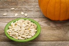 Fresh pumpkin seeds Royalty Free Stock Photo