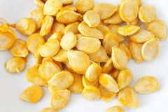 Fresh pumpkin seeds Stock Photography