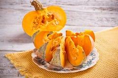 Fresh pumpkin slice Royalty Free Stock Image