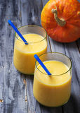 Fresh pumpkin smoothie, healthy drink Stock Photo