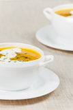 Fresh pumpkin soup Stock Photo