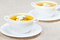Fresh pumpkin soup Royalty Free Stock Photography