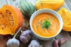 Fresh pumpkin soup Stock Photo