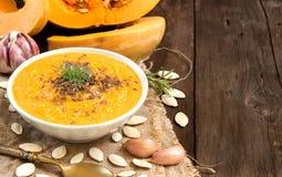 Fresh pumpkin soup Royalty Free Stock Photos