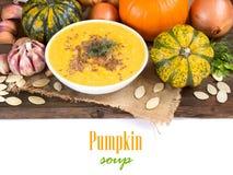 Fresh pumpkin soup Stock Photos
