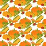 Fresh pumpkin thanksgiving decorative seasonal ripe food organic healthy vegetarian vegetable seamless pattern. Fresh orange pumpkin decorative seasonal ripe royalty free illustration