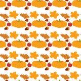 Fresh pumpkin thanksgiving decorative seasonal ripe food organic healthy vegetarian vegetable seamless pattern. Fresh orange pumpkin decorative seasonal ripe stock illustration