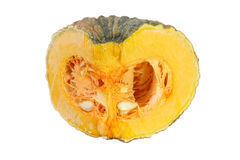 Fresh pumpkin to slice of isolated. Stock Photo