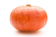 Fresh pumpkin on white background with clipping path Royalty Free Stock Photography