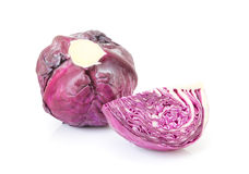 Fresh purple cabbage Royalty Free Stock Photos