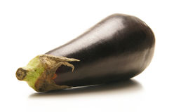 A fresh purple eggplant on a white background Royalty Free Stock Images
