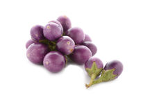 Fresh purple eggplants on white Royalty Free Stock Photo