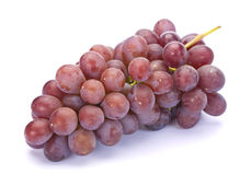 Fresh purple grape. Fruit on white background stock image