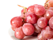 Fresh purple grape Stock Photos