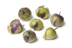 Fresh purple and green tomatillos Stock Image