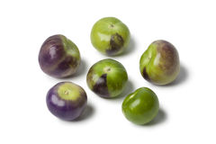 Fresh purple and green tomatillos Royalty Free Stock Photo