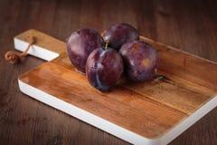 Fresh purple pluns Royalty Free Stock Photos