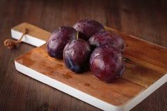 Fresh purple pluns Royalty Free Stock Image