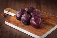 Fresh purple pluns Stock Image
