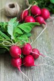 Fresh purple redish. Fresh purple radish on a old wooden  table Royalty Free Stock Photography