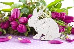 Fresh purple tulips Stock Photos