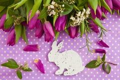 Fresh purple tulips Royalty Free Stock Images