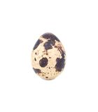 Fresh quail egg. Isolated on a white background Stock Photo