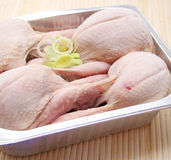 Fresh quails. Some fresh quails in a bowl for cooking Stock Photo