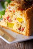 Fresh quiche lorraine Royalty Free Stock Photo