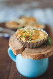Fresh Quiche lorraine Royalty Free Stock Photos