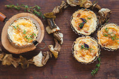 Fresh Quiche lorraine Royalty Free Stock Photography