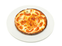 Fresh quiche on a plate. Fresh quiche  just from oven Royalty Free Stock Images